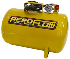 <strong>5 Gallon Steel Portable Air Tank - Yellow (125 PSI Max)</strong><br /> Includes Valve, Air Line & Pressure Gauge.