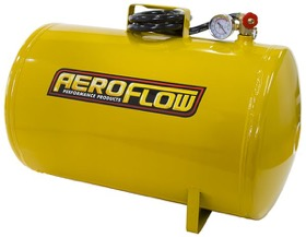 <strong>10 Gallon Steel Portable Air Tank - Yellow (125 PSI Max)</strong><br /> Includes Valve, Air Line & Pressure Gauge.