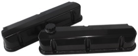 <strong>Fabricated Aluminium Valve Covers</strong> <br />Black Finish. Suit Ford 289-351 Windsor