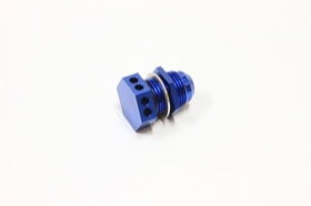 <strong>Bolt In Breather Bulkhead -12</strong><br /> Blue Finish