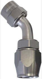<strong>Kryptalon Series One Piece Full Flow Swivel 30° Hose End -4AN</strong> <br />Titanium Finish, Suits Kryptalon Series Kevlar Hose