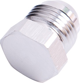 <strong>AN Flare Plug -10AN </strong><br />Silver Finish