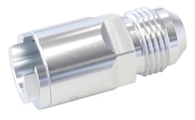 <strong>Push-On EFI Fuel Fitting 3/8&quot; Hose Pressure Side </strong><br /> Silver Finish