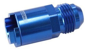 "<strong>Push-On EFI Fuel Fitting LS & LT 3/8"" Hose to -8AN</strong><br /> Blue Finish"