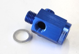 "<strong>Metric Extension with 1/8"" Port</strong><br /> Blue Finish. M12 x 1.5 Thread"