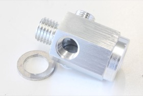 "<strong>Metric Extension with 1/8"" Port</strong><br /> Silver Finish. M12 x 1.5 Thread"