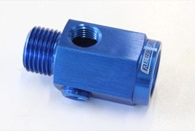 <strong>Metric Extension with 1/8&quot; Port</strong><br /> Blue Finish. M16 x 1.5 Thread