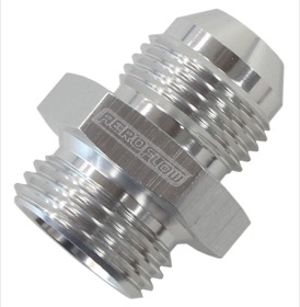 "<strong>BSPP to Straight Male Flare Adapter 1/2"" to -8AN</strong><br />Silver"