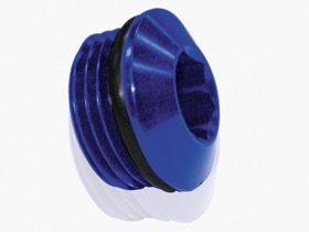 <strong>Slimline ORB Port Plug -3AN</strong><br /> Blue Finish