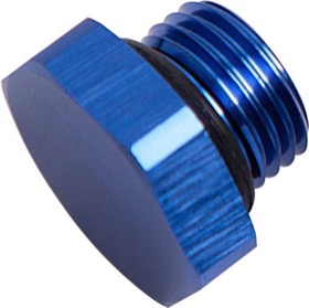 <strong>ORB Port Plug -3AN </strong><br />Blue Finish