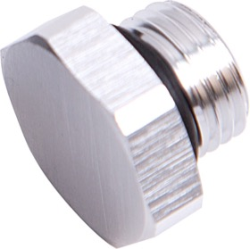 <strong>ORB Port Plug -8AN </strong><br />Silver Finish