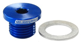 <strong>Metric Port Plug M12 x 1.25</strong><br /> Blue Finish.