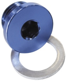 <strong>Metric Port Plug M18 x 1.5</strong><br /> Blue Finish.