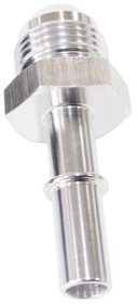 "<strong>Push-On EFI Fuel Fitting -6AN Push-on to 3/8"" Male Hard Tube </strong><br /> Silver Finish"