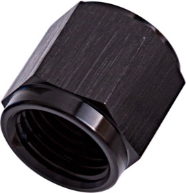 "<strong>-3AN Aluminium Tube Nut to 3/16"" Tube; </strong><br />Black Finish. Suits Aeroflow, Moroso & Russell Tubing"