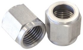 "<strong>-6AN Stainless Steel Tube Nut to 3/8"" Tube </strong><br /> Suits Aeroflow, Moroso & Russell Tubing"