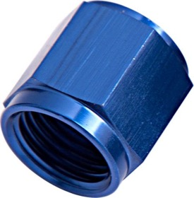 <strong>-6AN Aluminium Tube Nut to 3/8&quot; Tube </strong><br />Blue Finish. Suits Aeroflow, Moroso & Russell Tubing