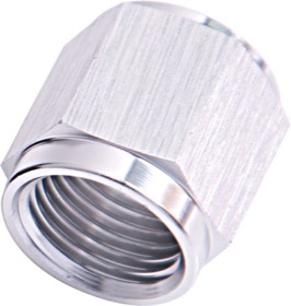 <strong>-6AN Aluminium Tube Nut to 3/8&quot; Tube</strong> <br />Silver Finish. Suits Aeroflow, Moroso & Russell Tubing