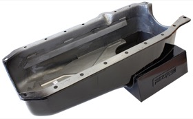 <strong>Super Oil Pan</strong> <br />Suit Holden HQ-WB With SB Chev R/H Dipstick, 1-Piece Seal (6.5L Capacity)