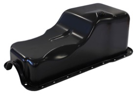 <strong>Replacement Oil Pan, Black Finish</strong><br /> Suit Ford 289-302 Windsor, Front Sump (5.0L Capacity)