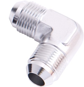 <strong>90° Male Flare Union -10AN</strong><br /> Silver Finish