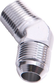 "<strong>45° NPT to Male Flare Adapter 1"" to -20AN</strong><br /> Silver Finish"