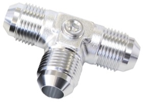 <strong>Flare AN Tee -6AN </strong><br />With 2 x 1/8&quot; NPT Ports, Silver Finish