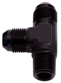"<strong>Tee with NPT On Run 1/4"" to -6AN</strong> <br />Black Finish"
