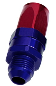 <strong>Male AN Taper Swivel Straight Hose End -8AN to -8AN</strong><br /> Blue/Red Finish. Suit 100 & 450 Series Hose