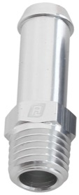 <strong>Male NPT to Barb Straight Adapter 1/16&quot; to 1/4&quot;</strong><br /> Silver Finish