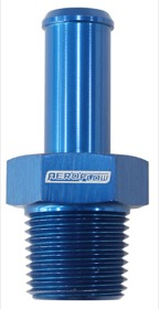 "<strong>Male NPT to AN Barb Straight Adapter 1/8"" to -4AN Hose</strong><br /> Blue Finish"