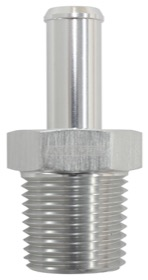 "<strong>Male NPT to AN Barb Straight Adapter 3/8"" to -10AN Hose</strong><br /> Silver Finish"