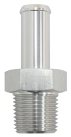 "<strong>Male NPT to AN Barb Straight Adapter 1/2"" to -10AN Hose</strong><br /> Silver Finish"