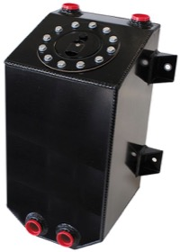 <strong>Aluminium 3 Gallon (11.35L) Fuel Cell with Cavity/Sump (Black)</strong> <br /> 8-1/16