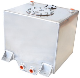 <strong>Aluminium 5 Gallon (19L) Fuel Cell with Cavity/Sump</strong><br /> 10-1/4&quot; L x 11-13/16&quot; W x 10-1/4&quot; H (26cm x 30cm x 26cm)
