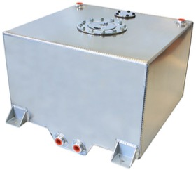 <strong>Aluminium 10 Gallon (38L) Fuel Cell with Cavity/Sump</strong><br /> 14-15/16&quot; L x 16-1/8&quot; W x 10-1/4&quot; H (38cm x 41cm x 26cm)