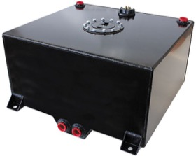"<strong>Aluminium 15 Gallon (57L) Fuel Cell with Cavity/Sump & Fuel Sender (Black)</strong><br /> 18-1/8"" L x 20-1/16"" W x 10-1/4"" H (46cm x 51cm x 26cm)"
