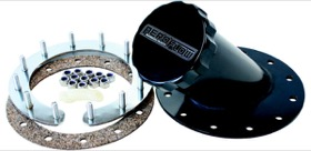 <strong>Remote Fuel Cell Filler 45&deg; 2-1/2&quot; Neck</strong><br /> Suits Aeroflow Fuel Cells, Black Finish
