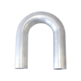 "<strong>180° Aluminium Mandrel Bend 3"" (75mm) Dia. </strong><br /> 1/16"" (1.63mm) Wall. 5-1/2"" (140mm) Leg"