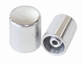 <strong>Billet A/C Charge Port Cover</strong><br /> Suits -6AN & -8AN Large Charge Port Fittings