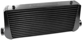 "<strong>Aluminium Intercooler with 3"" Inlet/Outlets </strong><br />Black Finish. 600 x 300 x 76mm"