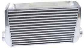 "<strong>Aluminium Intercooler with 3"" Inlet/Outlets </strong><br />Raw Finish. 450 x 300 x 76mm"