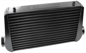 <strong>Aluminium Intercooler with 3&quot; Inlet/Outlets </strong><br />Black Finish. 450 x 300 x 76mm