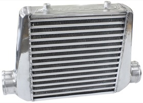 "<strong>Aluminium Intercooler with 3"" Inlet/Outlets </strong><br />Raw Finish, 280 x 300 x 76mm"