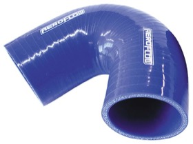 "<strong>135° Silicone Hose Elbow 4"" (102mm) I.D</strong><br />Gloss Blue Finish. 3-15/16"" (100mm) Leg"