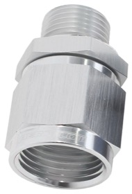 <strong>Male M12 x 1.5 to Female -8AN Swivel Adapter </strong><br />Supplied With Washer, Silver Finish