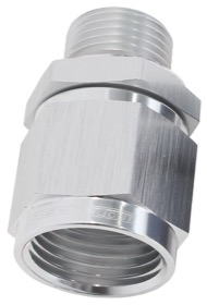 <strong>Male M18 x 1.5 to Female -8AN Swivel Adapter </strong><br />Supplied With Washer, Silver Finish