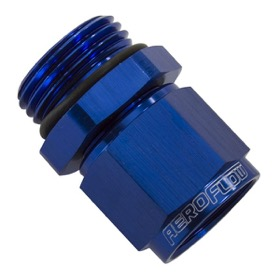 <strong>Male -10 ORB to Female -8AN Swivel Adapter </strong><br />Blue Finish