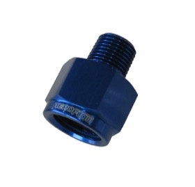 <strong>NPT Pipe Reducer 1/8&quot; to 1/4&quot; </strong><br />Blue Finish