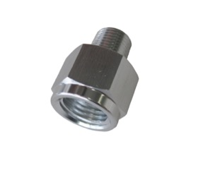 "<strong>NPT Pipe Reducer 1/8"" to 1/4"" </strong><br />Silver Finish"